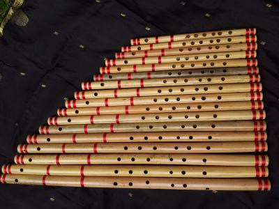 Bansuri set - Indian bamboo flute set for sale